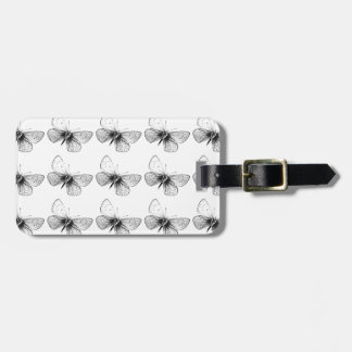 Pop Art Butterfly Luggage Tag