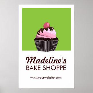 Pop Art Cake Custom Bakery Business Poster