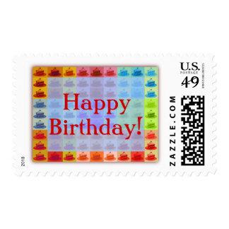 Pop Art Cake Postage Stamp