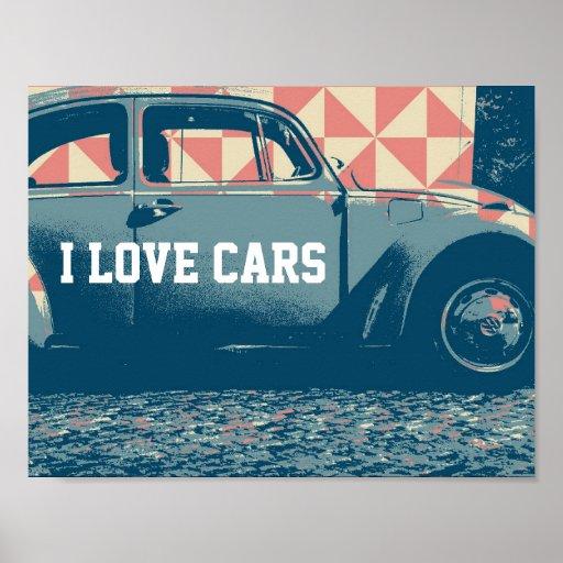 pop-art car poster
