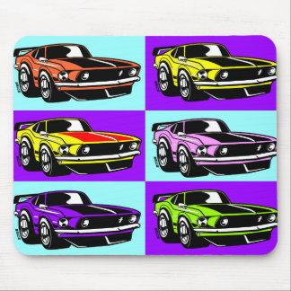 Pop Art Cartoon Pony Car Mouse Pad