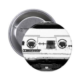 Pop Art Cassette Pinback Button