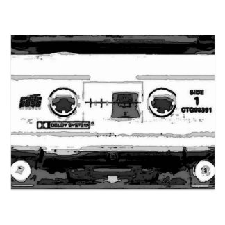 Pop Art Cassette Postcard