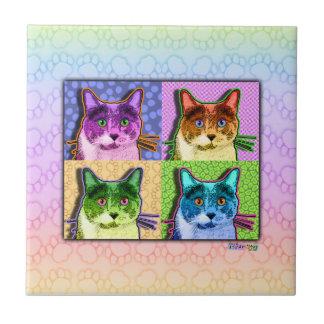 Pop Art Cat Ceramic Tile