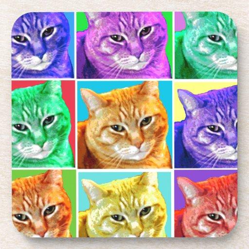Pop Art Cat Coasters