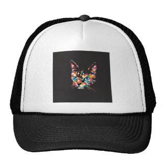 POP ART CAT TRUCKER HAT