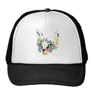 POP ART CAT TRUCKER HATS