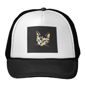 POP ART CAT MESH HAT