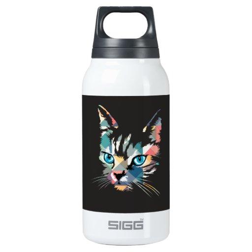 POP ART CAT INSULATED WATER BOTTLE