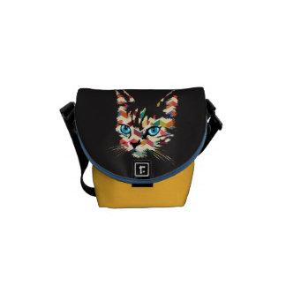 POP ART CAT COURIER BAG