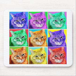 Pop Art Cat Mouse Pad