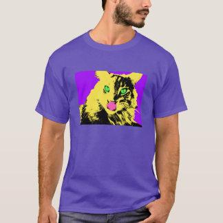 Pop Art Cat Portrait T-Shirt