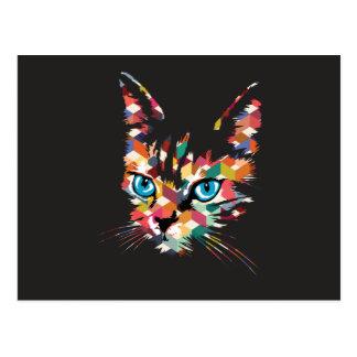 POP ART CAT POSTCARD