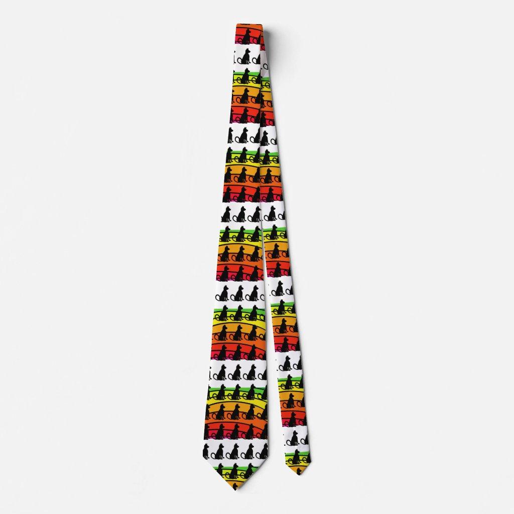 Pop Art Cat Rainbow Cats Fun CricketDiane Neck Tie