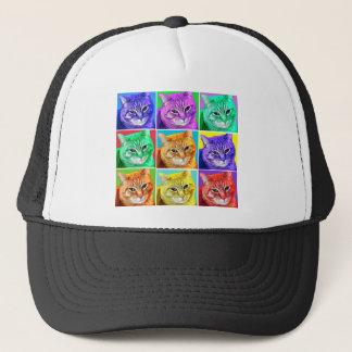 Pop Art Cat Trucker Hat