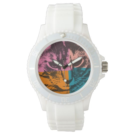 Pop Art Cat Wrist Watch