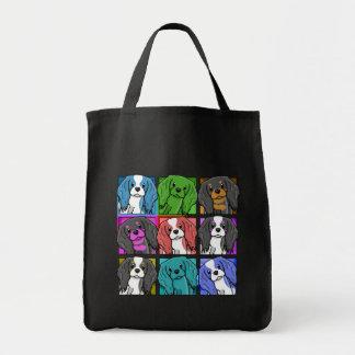 Pop Art Cavalier King Charles Spaniel Tote Bag