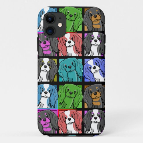 Pop Art Cavalier King Charles Spaniel iPhone 5 Cas Phone Case