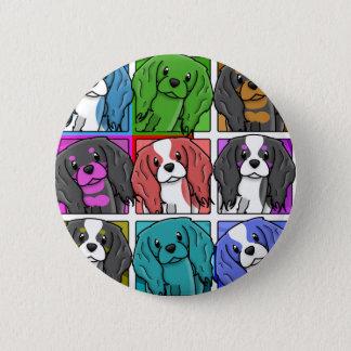 Pop Art Cavalier King Charles Spaniel Pinback Button