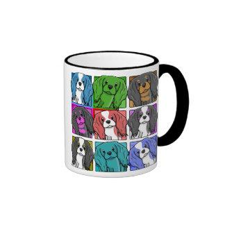 Pop Art Cavalier King Charles Spaniel Ringer Mug