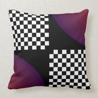 Pop Art Checkerboard Retro Modern Home Decor Throw Pillow