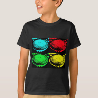 pop art cherry pie with a colourful pastry topping T-Shirt