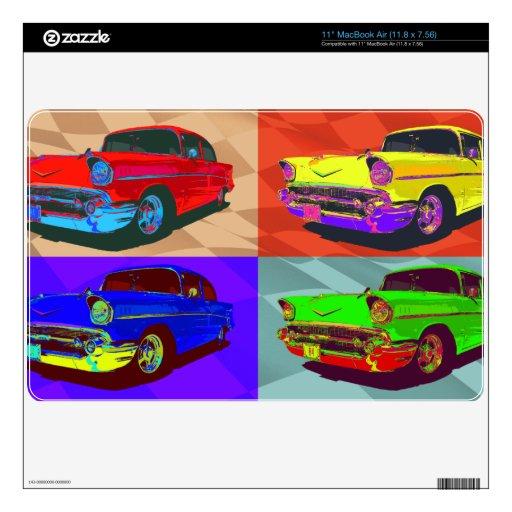 Pop art Chevy Belair illustration Skins For MacBook Air