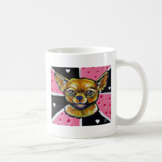 Pop art Chihuahua Classic White Coffee Mug