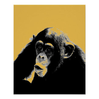 Pop Art Chimpanzee Poster