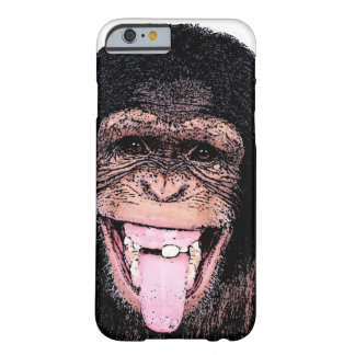Pop Art Chimpanzee Sticking Tongue Out Barely There iPhone 6 Case