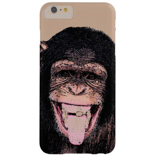 Pop Art Chimpanzee Sticking Tongue Out Barely There iPhone 6 Plus Case