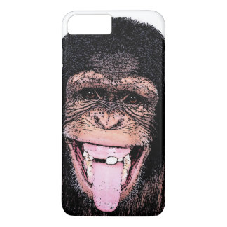 Pop Art Chimpanzee Sticking Tongue Out iPhone 7 Plus Case