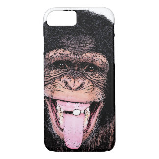 Pop Art Chimpanzee Sticking Tongue Out iPhone 8/7 Case