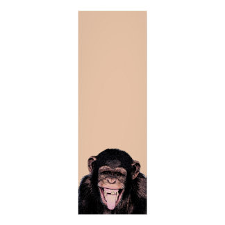 Pop Art Chimpanzee Sticking Tongue Out Poster