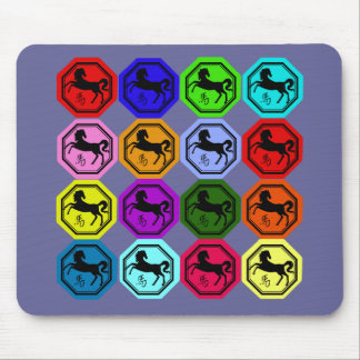 Pop Art Chinese Year of the Horse Mouse Pad