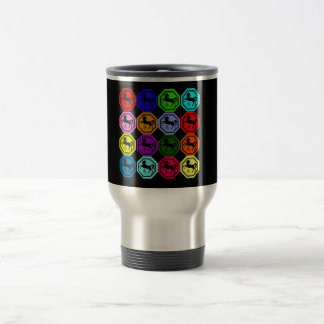 Pop Art Chinese Year of the Horse 15 Oz Stainless Steel Travel Mug