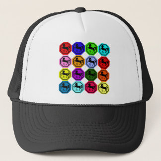 Pop Art Chinese Year of the Horse Trucker Hat