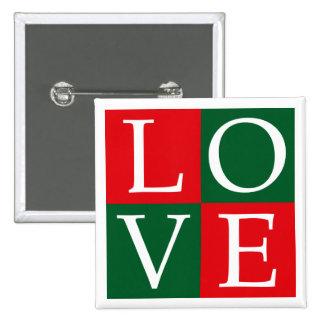 Pop Art Christmas LOVE Pinback Buttons