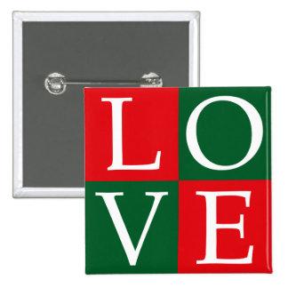 Pop Art Christmas LOVE Pinback Button