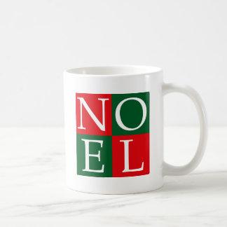 Pop Art Christmas NOEL Classic White Coffee Mug