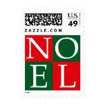 Pop Art Christmas NOEL Stamp