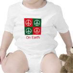 Pop Art Christmas PEACE Baby Bodysuit