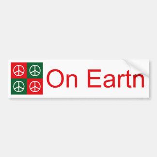 Pop Art Christmas PEACE Bumper Sticker