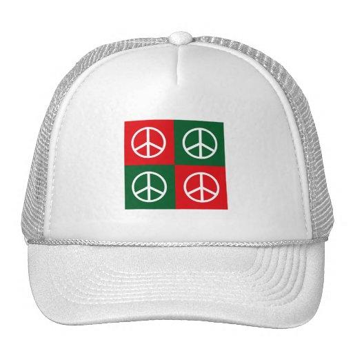 Pop Art Christmas PEACE Hat