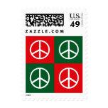 Pop Art Christmas PEACE Postage Stamp