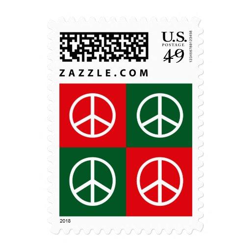 Pop Art Christmas PEACE Stamp