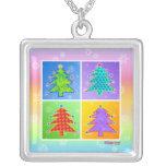 Pop Art Christmas Tree Necklace