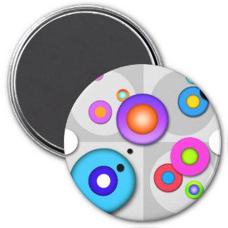 Pop Art CIRCLE DESIGN MAGNETS