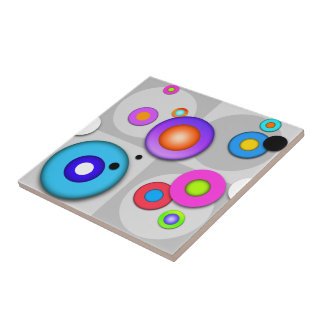 Pop Art CIRCLES Ceramic Tile