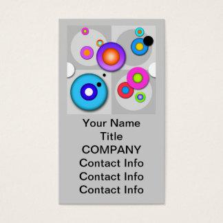 Pop Art CIRCLES Customizable BUSINESS CARD 3